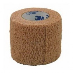 3M™ Coban™ 1581 - 2,5 cm x 4,5 m - tělová barva - Samofixační elastické obinadlo