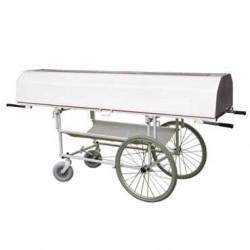 Vozík na zemřelé s krytem VSNP 95 VK-150 - 150 kg - velká kola