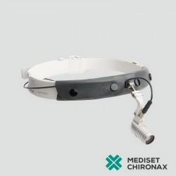 Operační čelní LED světlo HEINE Microlight 2 na hlavové objímce S-Frame s mPack akumulátorem