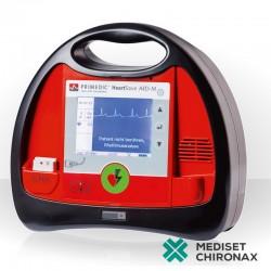 Defibrilátor PRIMEDIC HeartSave AED-M AkuPak LITE - auto externí defibrilátor s monitorem, dobíjecí baterie, bifázická CCD