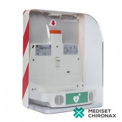 SaveBox - nástěnný box pro defibrilátor Primedic AED HeartSave - bez alarmu