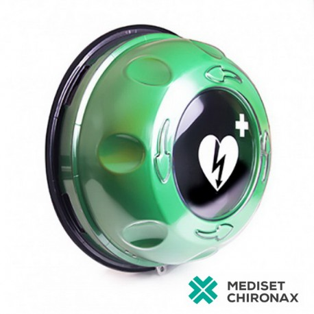 Rotaid Plus Green bez alarmu - nástěnný box pro defibrilátor Primedic AED HeartSave