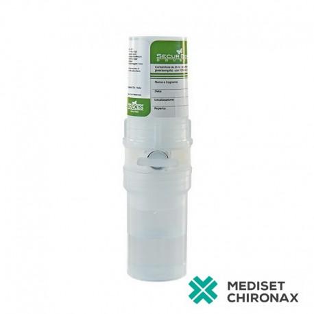 SECURBIOP DOUBLE 10ml+10ml NaCl - kontejner pro bioptické vzorky - předplněná nádoba 10% NBF + NaCl - balení 20 ks