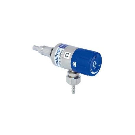 Mediflow ULTRA II 25 - průtokoměr okénkový, 0 - 25 l/min, kyslík
